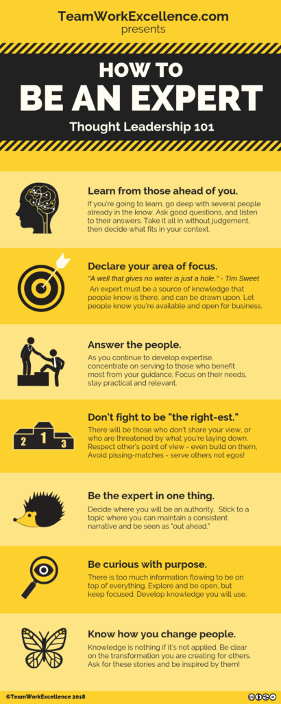 7 Thoughts on How to Be An Expert